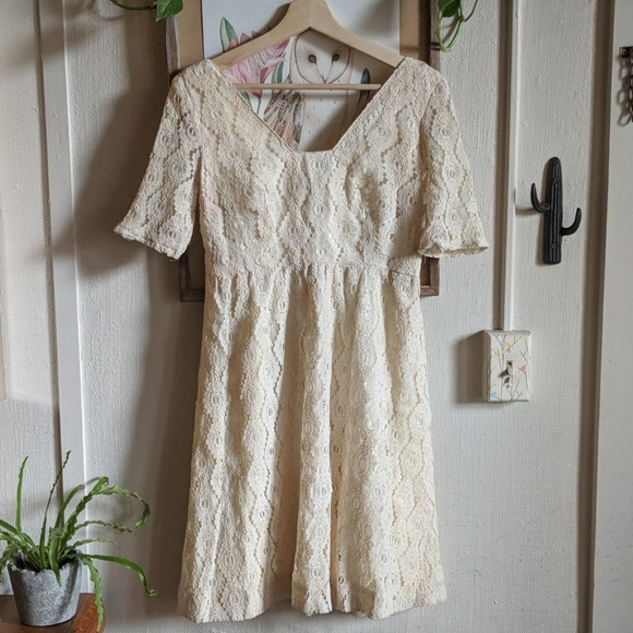 Vintage Dresses & Skirts - Vintage 50s-60s lace boho babydoll dress